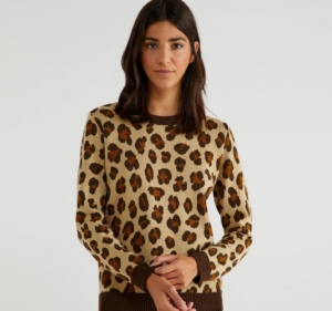 Top imprimé léopard